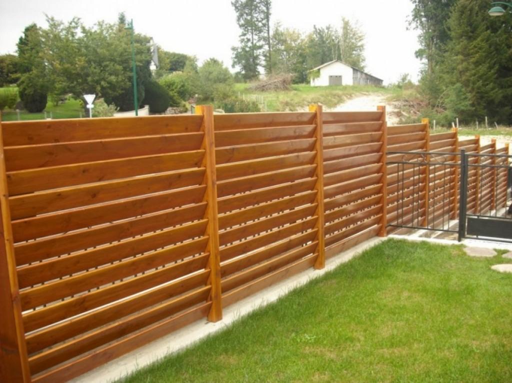 Забор-лесенка между соседними участками