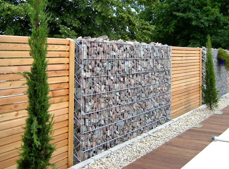 Использование габинов для ограды дачного участка