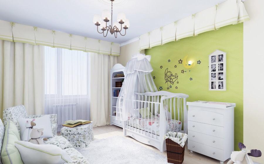 Зеленая детская комната в стиле прованса