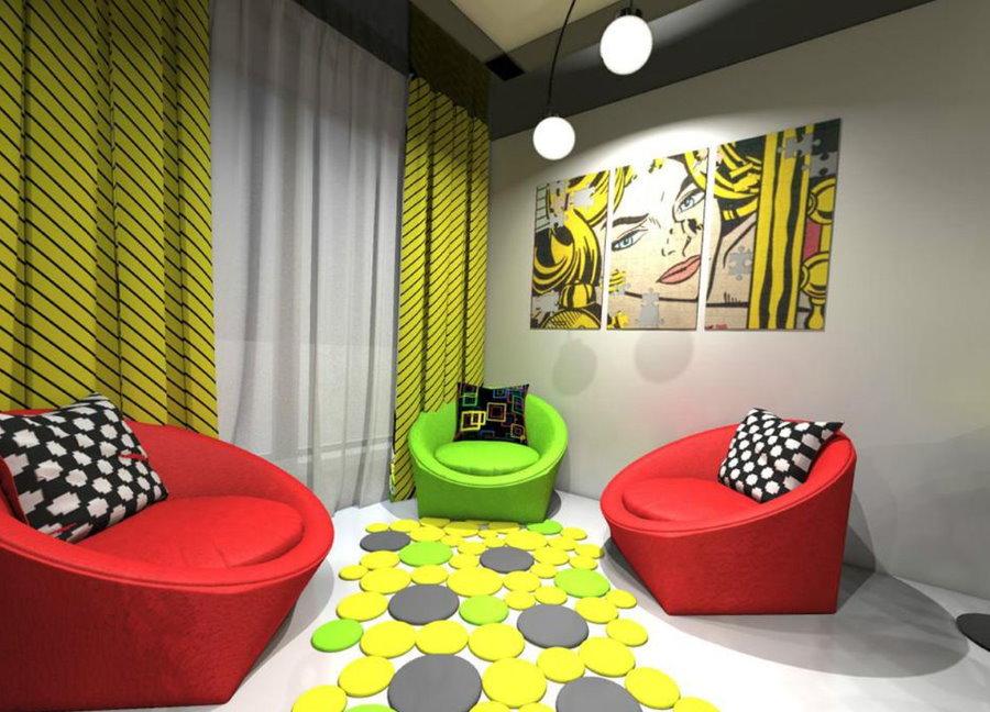 Игровая комната в стиле поп арта