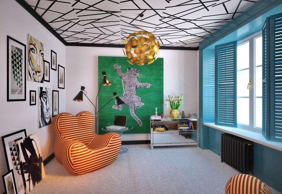 Дизайн детской комнаты в духе поп-арта