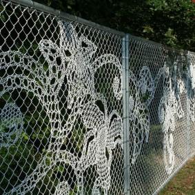 декоративный забор из сетки