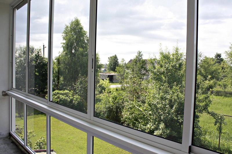 остекление балкона алюминиевыми профилями