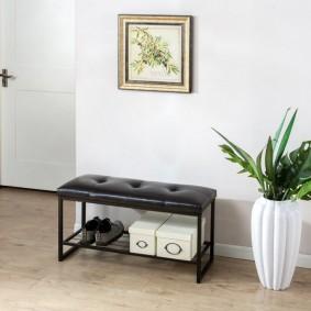 современная скамейка для прихожей фото