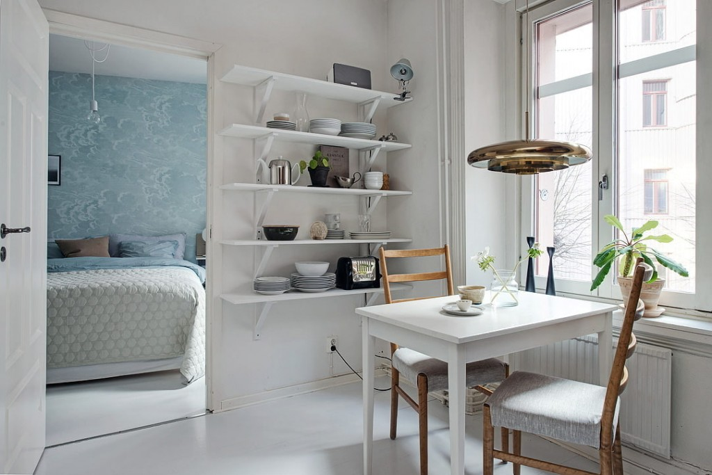 Кухонные полки в скандинавском стиле