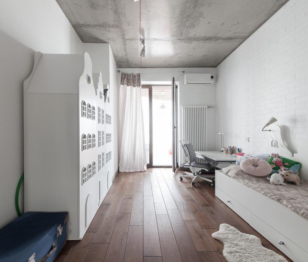 Дизайн детской комнаты в стиле лофта
