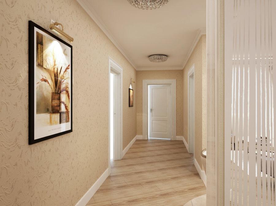 Отделка коридора виниловыми обоями
