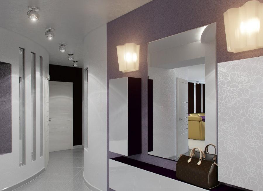 Освещение коридора в стиле модерн