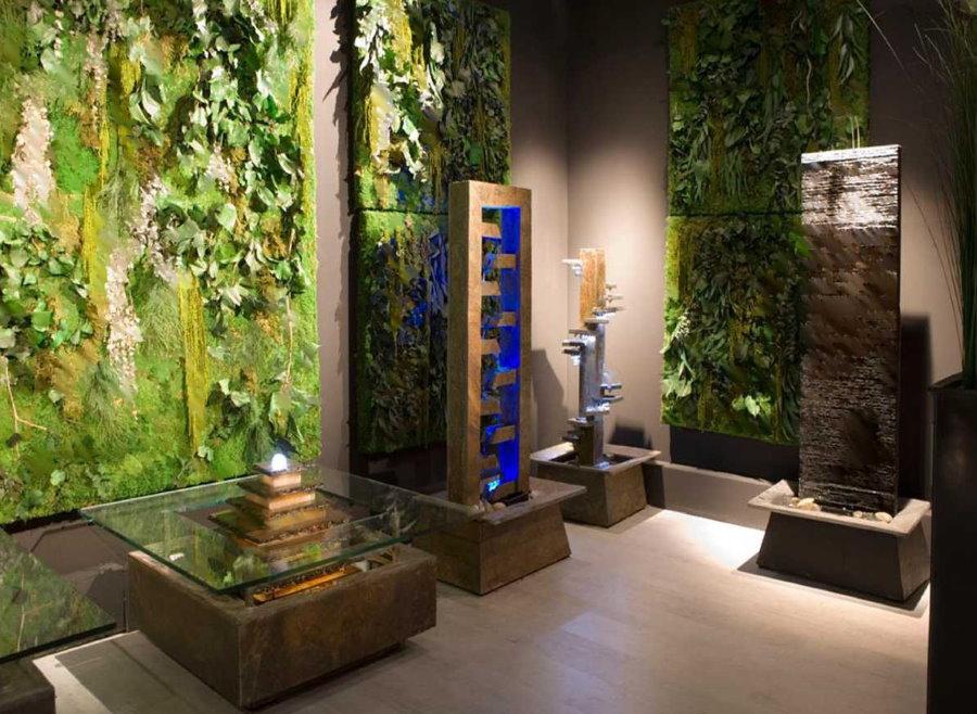 Примеры конструкций декоративных фонтанов для квартиры
