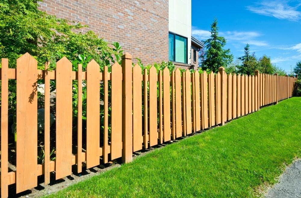 декоративный забор деревянный