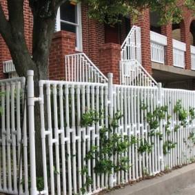 декоративный забор для сада оформление