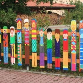 декоративный забор для сада идеи оформления