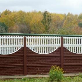 декоративный забор для сада виды фото
