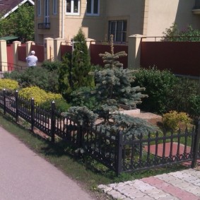 декоративный забор для сада фото видов