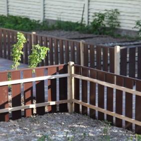 декоративный забор для сада обзор фото