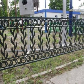 декоративный забор для сада дизайн фото