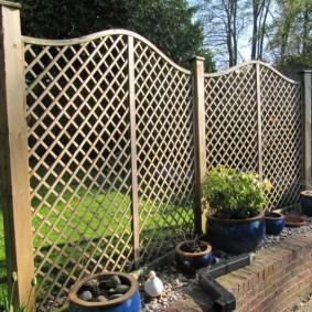 декоративный забор для сада фото дизайн