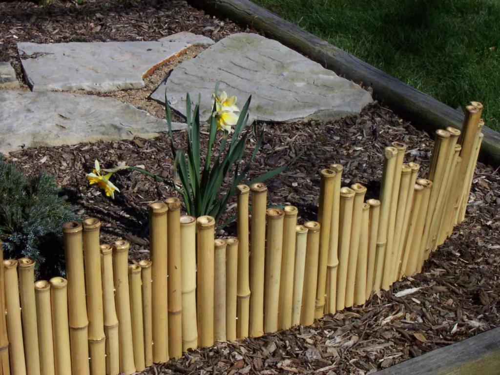 декоративный забор из бамбука