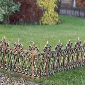декоративный забор металл