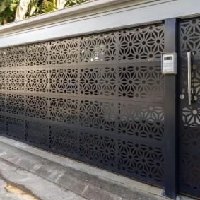 декоративный забор листовой