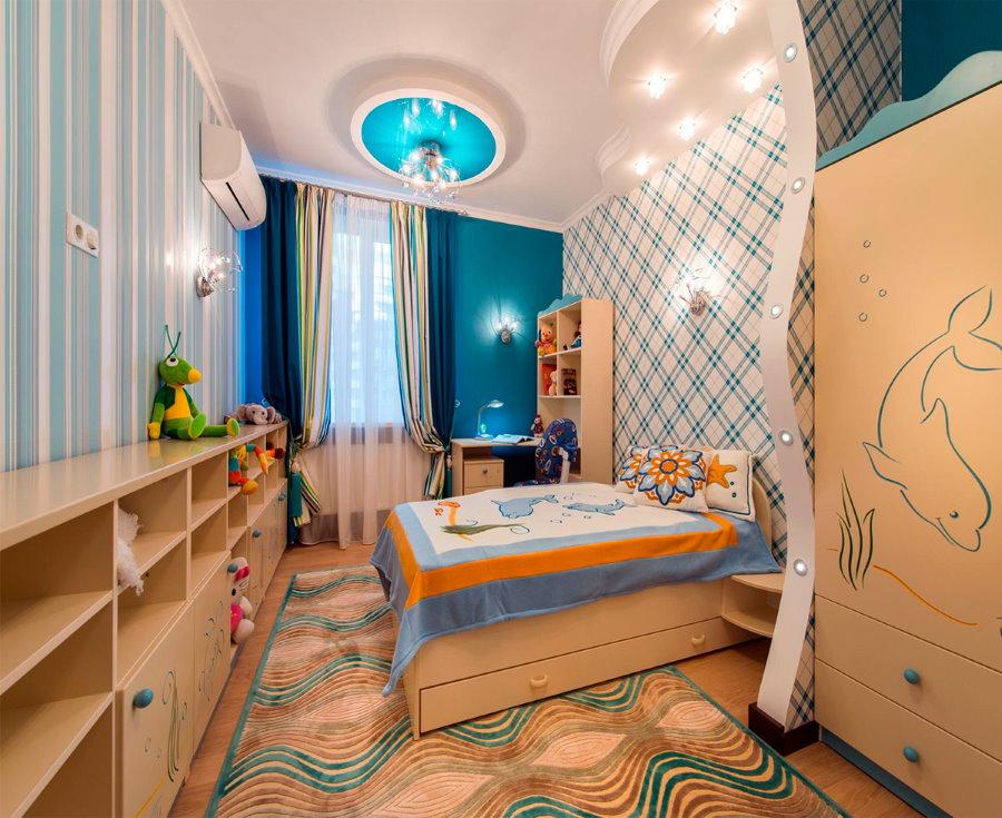 Обустройство детской комнаты в квартире 44 квадратных метра