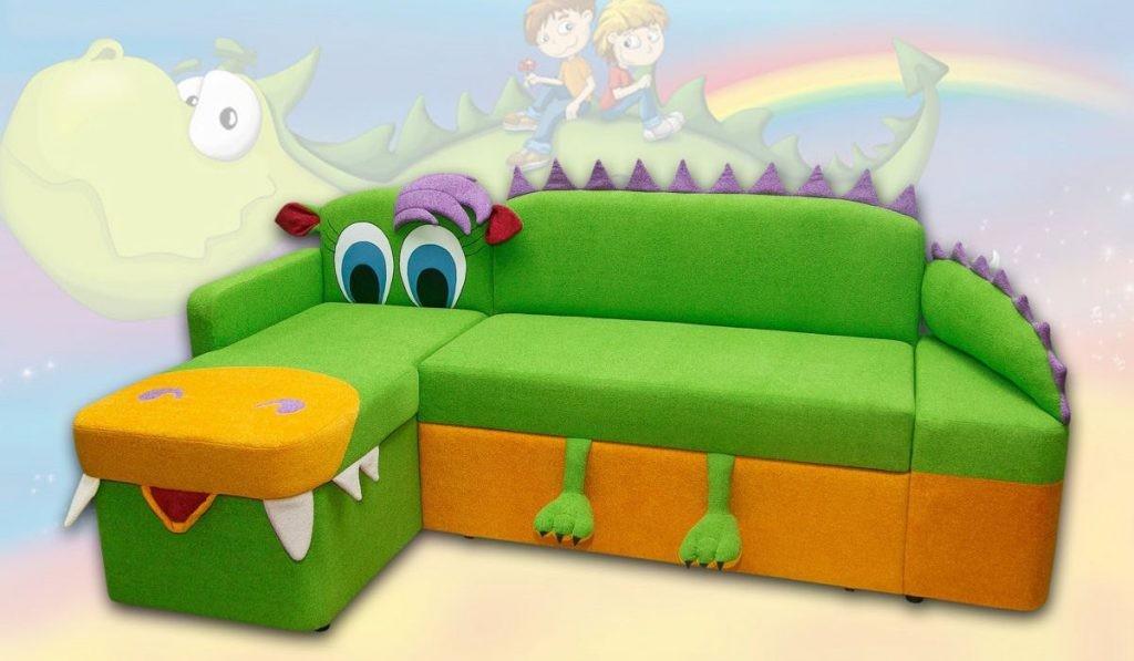 Детский угловой диван модели Крокодил