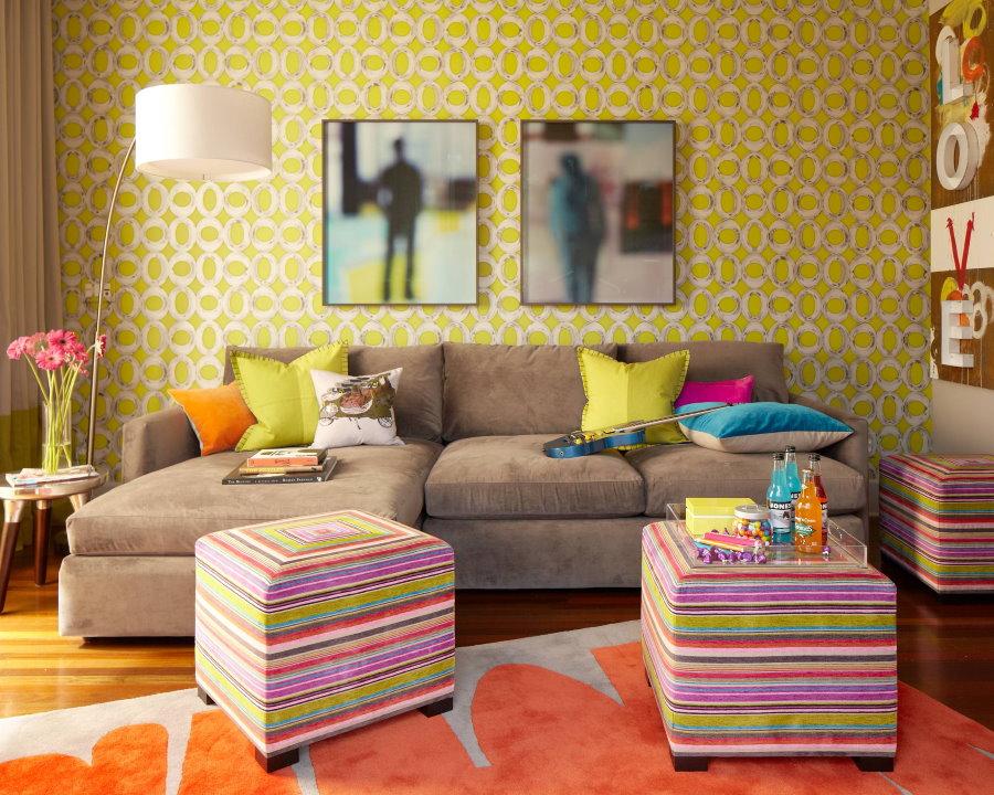 Угловой диван с выкатным механизмом трансформации