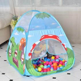 детский домик палатка с шарами фото