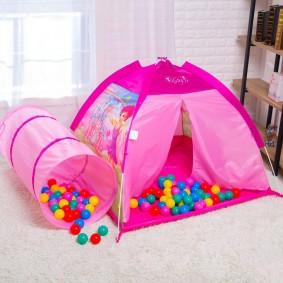 детский домик палатка с шарами идеи