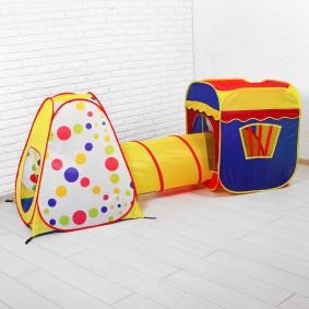 детский домик с туннелем фото