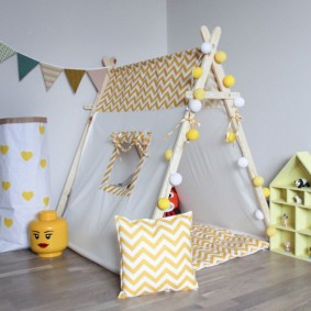 детский игровой домик декор идеи