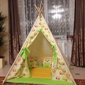 детский игровой домик интерьер