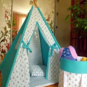 детский игровой домик интерьер фото
