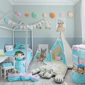 детский игровой домик идеи интерьера