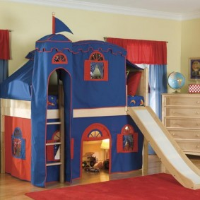 детский игровой домик оформление фото