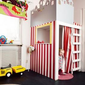детский игровой домик оформление идеи
