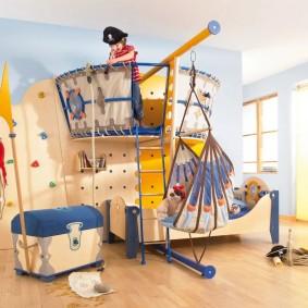 детский игровой домик виды декора
