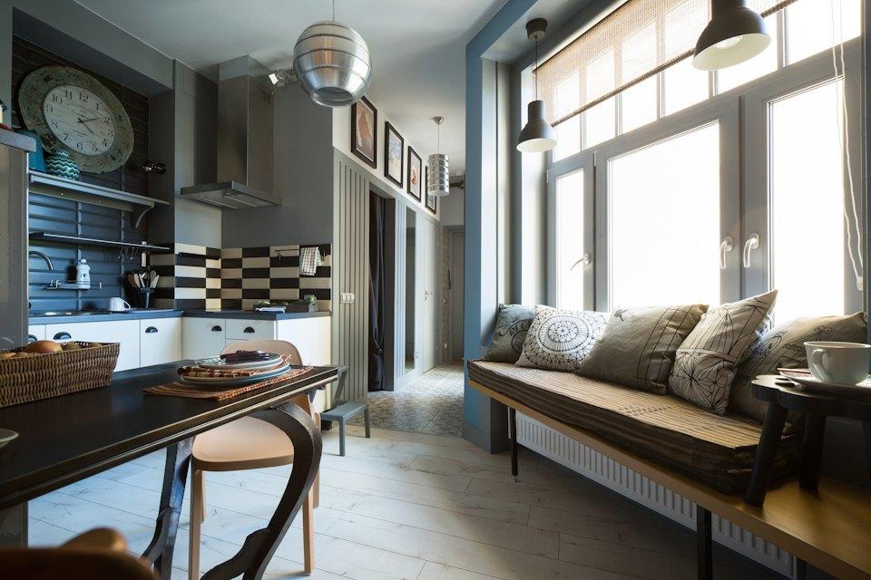 Квартира-студия общей площадью 32 кв метра