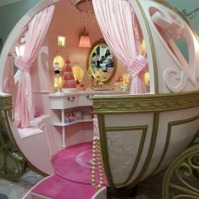 домик для девочки карета