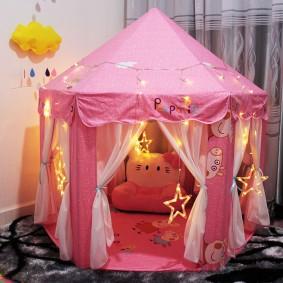 домик для девочки шатер