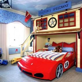 домик для мальчика гоночный автомобиль