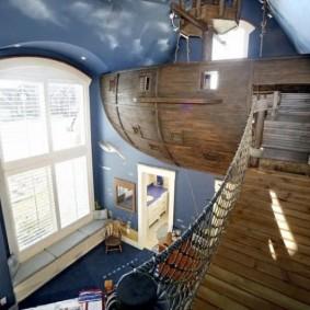 домик для мальчика пиратский корабль