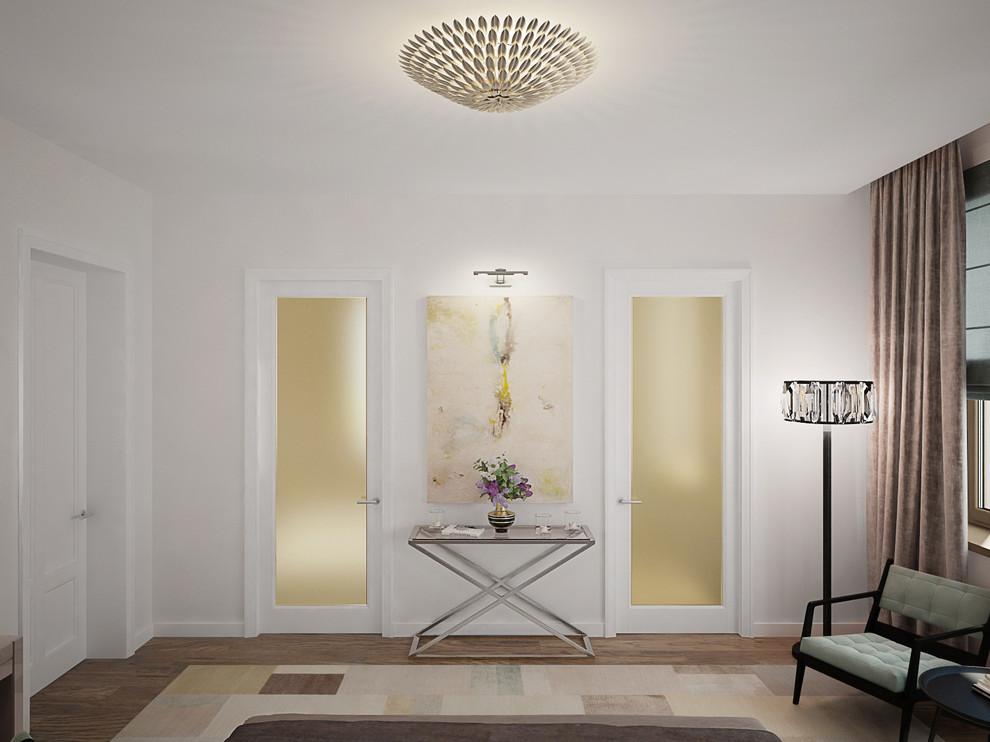 Декорирование интерьера гостиной проходного типа