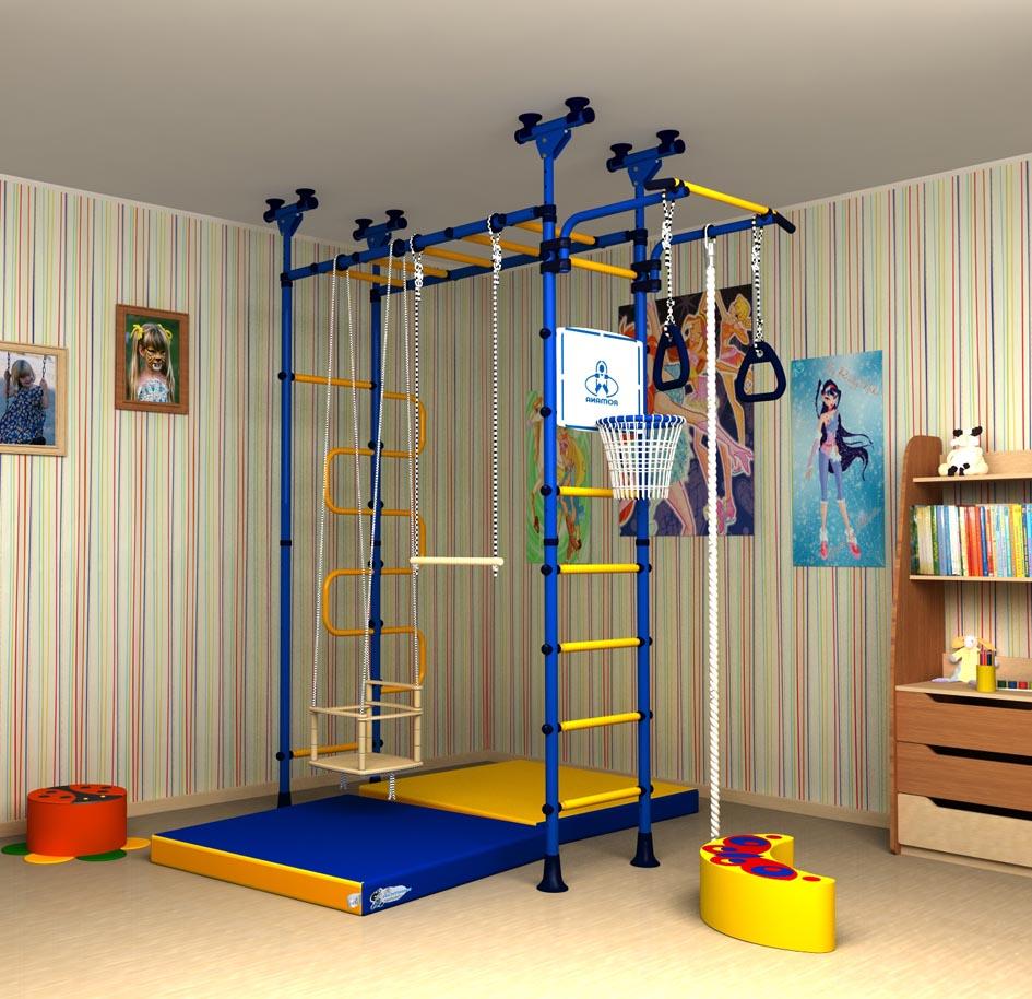Детский спортивный комплекс с креплением к потолку комнаты