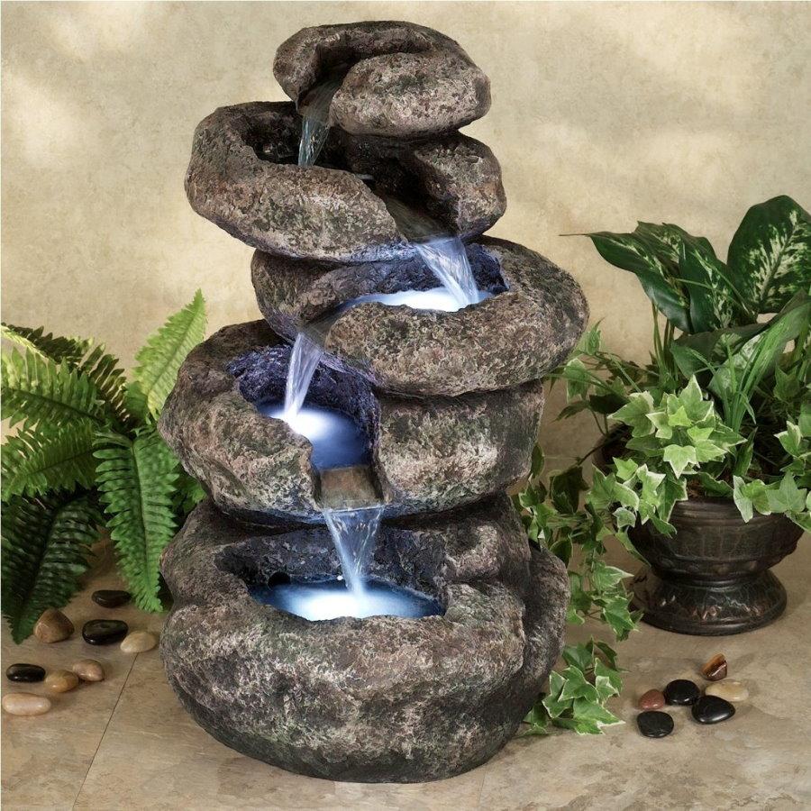 Настольный водопад из природных камней