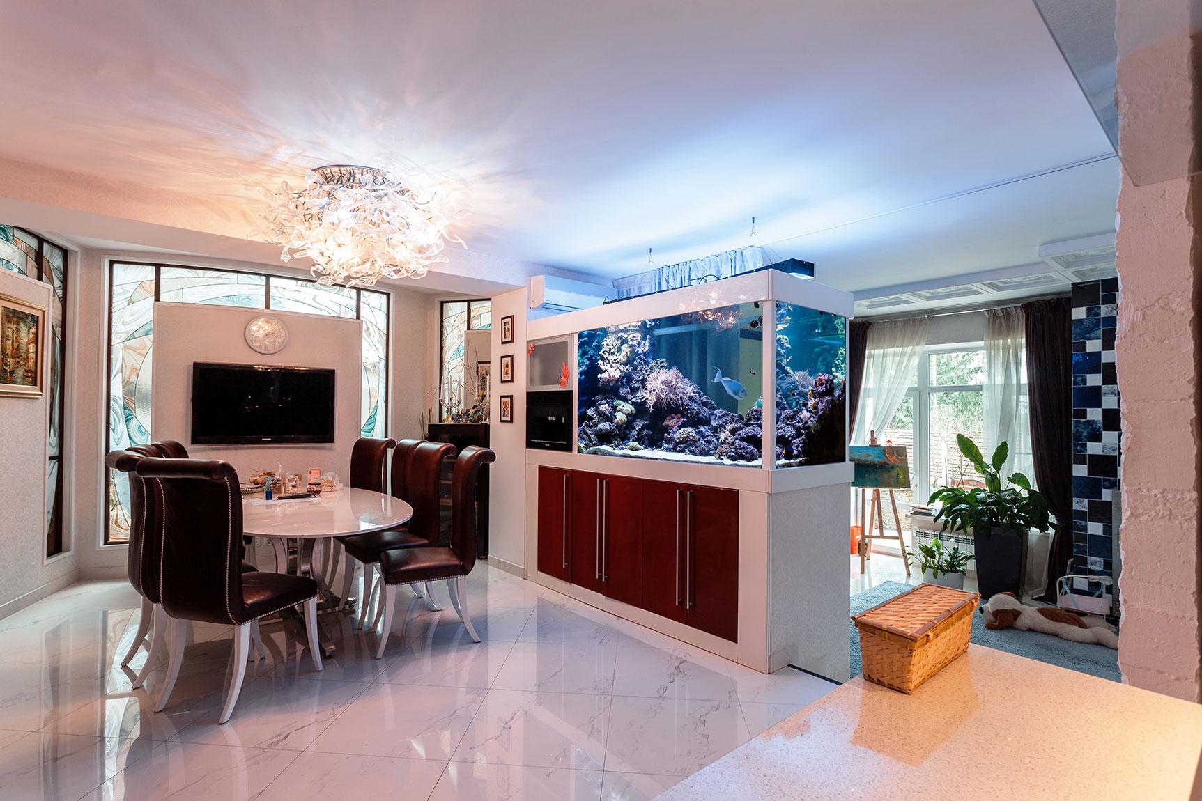 аквариум в однокомнатной квартире фото обычно имеет