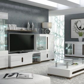 Корпусная мебель для гостиной частного дома