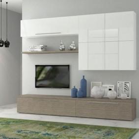 Модульная мебель в гостиную городской квартиры
