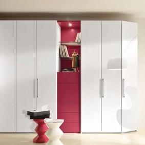 Белые шкафы с распашными дверцами
