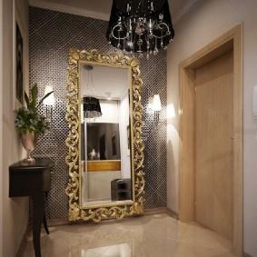 Большое зеркало в ажурной раме